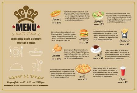 Restaurant Food Menu Design  vector format Vectores