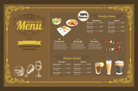 retro backgrounds: Restaurant Fast Foods menu burger vector format   Illustration