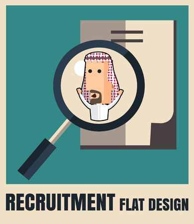 hr: recruitment. picking the right candidate professional .Flat icons,flat design ,vector illustration concept set Illustration