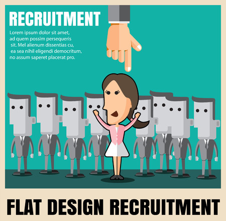 talented: recruitment. picking the right candidate professional .Flat icons,flat design ,vector illustration concept set Illustration