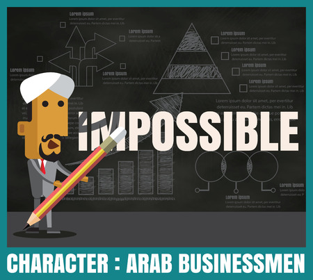 charactor: Charactor of arab business arab men