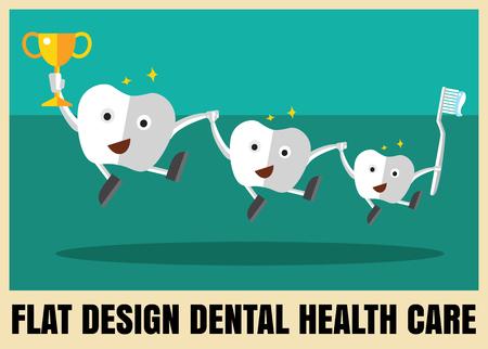 치과 건강 관리와 의료 평면 아이콘 일러스트 레이션 일러스트