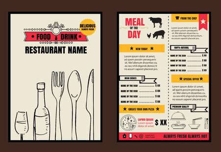 Brochure or poster Restaurant  food menu with Background vector format eps10 向量圖像