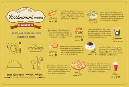 Restaurant Fast Foods menu vector format eps10 向量圖像