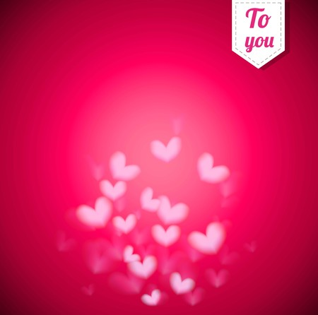 Beautiful  blur ping background with  Heart For valentine s Day vector format eps10