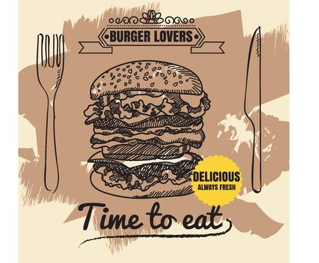 Restaurant Fast Foods burger menu  vector format eps10