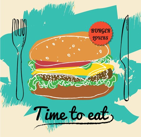 Restaurant Fast Foods burger menu  vector format