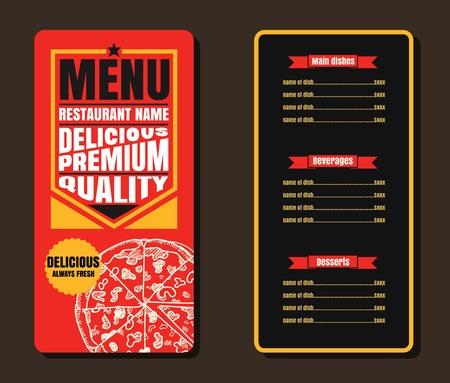Restaurant Fast Foods menu  on chalkboard vector format eps10 向量圖像