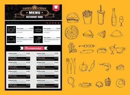Restaurant Food Menu Design vector format