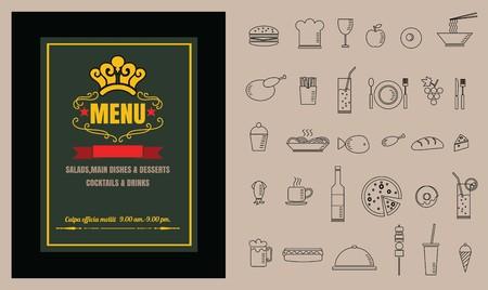Restaurant Food menu on chalkboard vector 向量圖像
