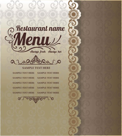 Restaurant Food Menu Vintage Typographic Design Background 版權商用圖片 - 61077222