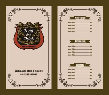 Restaurant Food Menu Vintage Typographic Design  with line icon Chalkboard Background 版權商用圖片 - 61077228