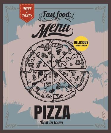 Restaurant Fast Foods menu pizza 向量圖像