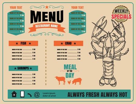 Restaurant Fast Foods menu on chalkboard 版權商用圖片 - 61077366