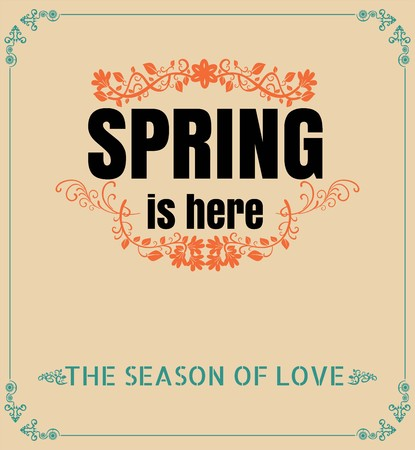 Spring is Here Typography Background