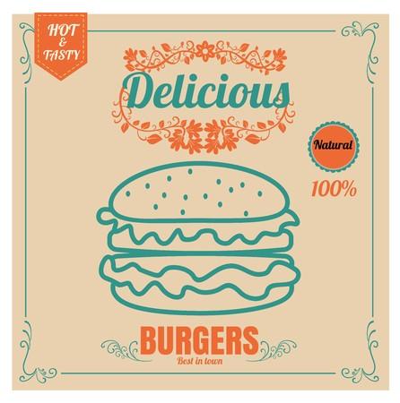 Restaurant Fast Foods menu burger 向量圖像