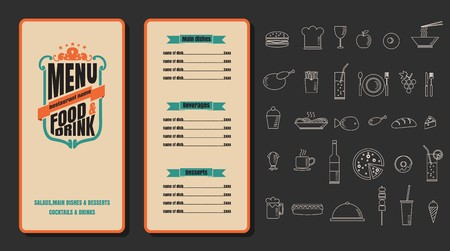 Restaurant Food Menu Vintage Design with Background vector format eps10 版權商用圖片 - 68634009