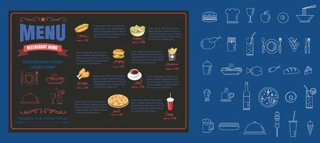 レストラン フード メニュー デザイン ベクトル形式