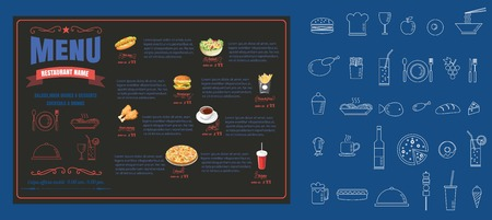 Restaurant Food Menu Design  vector format Ilustracja