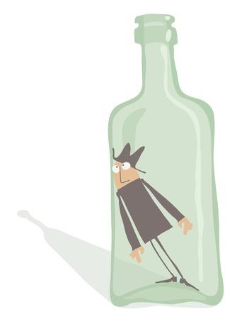 alcoholist: Alcoholist in de fles