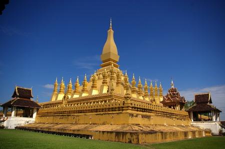 tunable: Pha That Luang, Lao Stock Photo