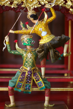 acting: Giant with acting of Khon Thai classical dance Stock Photo