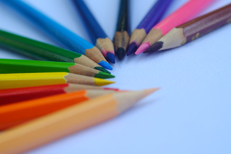 stationery needs: many different colored pencils