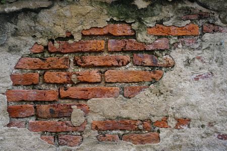 very dirty: background of very old and dirty brick wall in vintage style