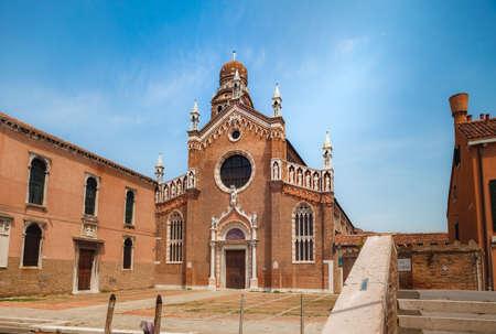 View to Madonna del Orto Church, Canaregio district, Venice, Italy