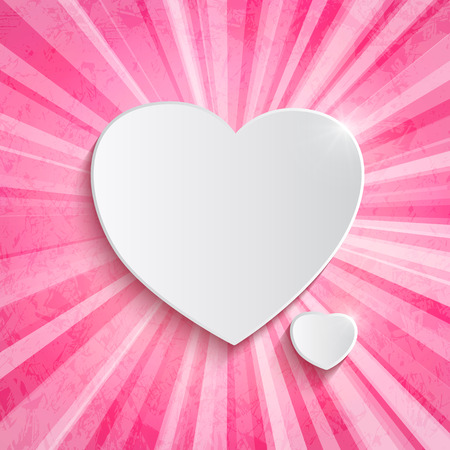 Heart over pink background