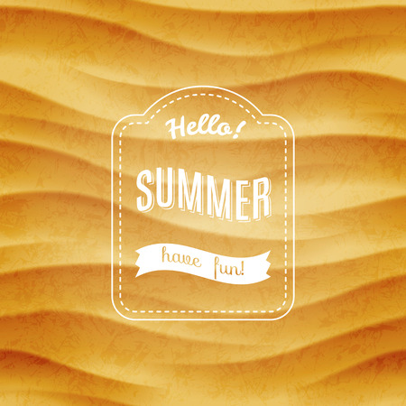 Summer sandy background Ilustração