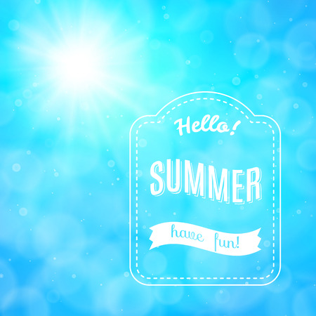 Summer poster, vector background