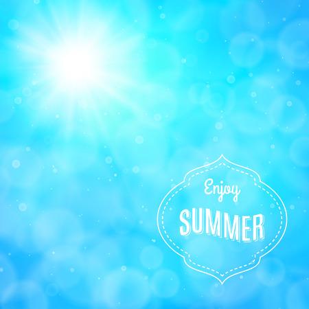Enjoy summer, vector background Ilustração