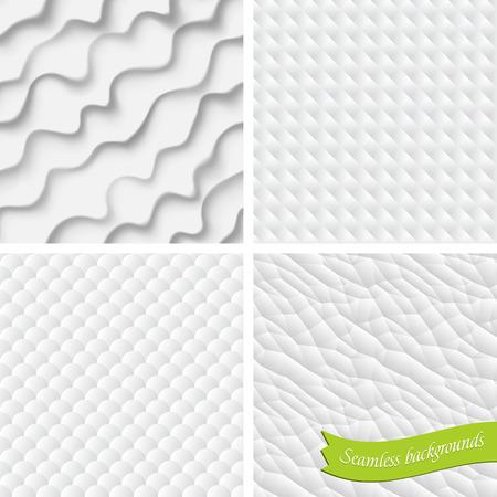Set of four vector backgrounds, seamless Ilustração
