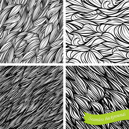 Set of vector backgrounds, seamless