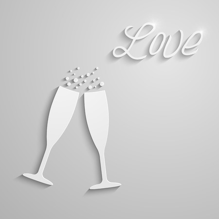 bubbly: Vector two glasses Illustration