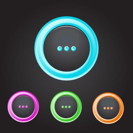 Vector button icon set