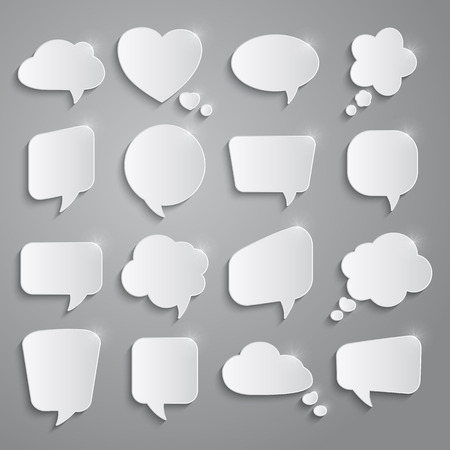 word balloon: Set of speech bubbles