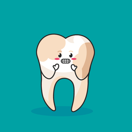tooth dirty isolated. vector illustration. isolated icon