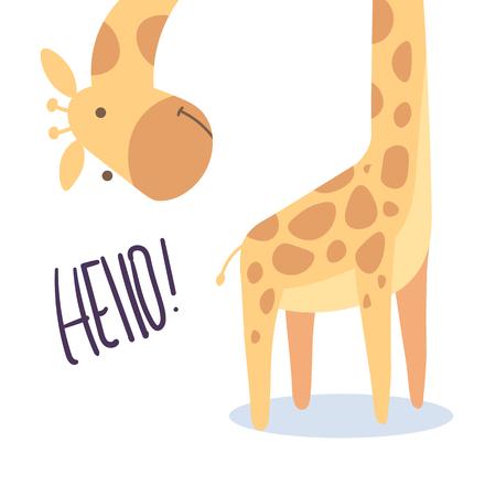 cute giraffe illustration vector for kids print