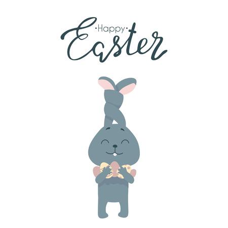 Happy Easter greeting card. Vector illustration Ilustração