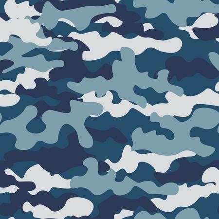Textur militärische Tarnung wiederholt die nahtlose Armeeblaujagd Vektorgrafik