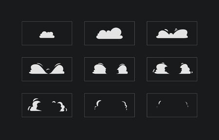 Smoke explosion animation. Smoke Animation. Sprite sheet for game, cartoon or animation Illustration