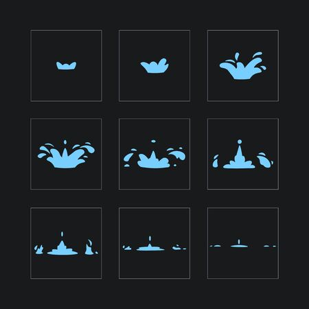 Dripping water special effect fx animation frames sprite sheet.