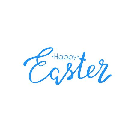 Happy Easter colorful lettering