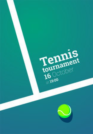 Tennis championship or tournament poster design. Vector illustration