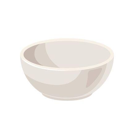White ceramic bowl vector illustration high quality