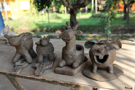 child's: Childs ceramic handicrafts Stock Photo