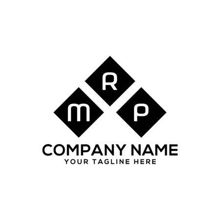 MRP letter design in black triangle. M R P letter design. Ilustração
