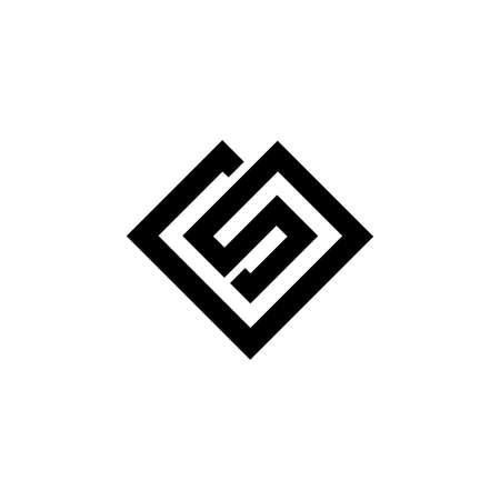 GS letter logo design. GS SG Triangle Vector Logo Circle Monogram Super Hero Concept. Letter GS/SG logo design template.